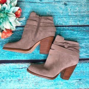 Sole Society Rumi Suede Heeled Ankle Boots